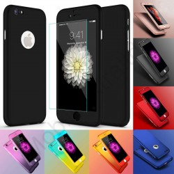 Hybrid 360° Tempered Glass + Acrylic Hard Case Cover