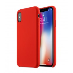 Plain Liquid Silicone Gel Rubber Slim Fit iPhone X Max