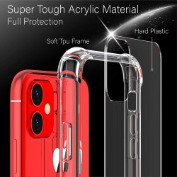Anti burst Clear Back Cases for iPhone 12